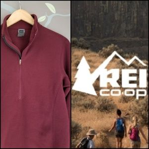 REI half zip fleece pullover